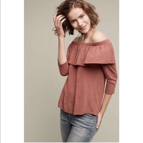 8c0d07b9dac91 Anthropologie Tops - Anthropologie Dolan Charla Off the Shoulder Top M